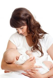woman breastfeeding